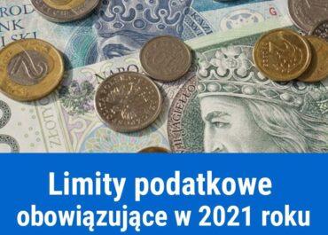 Zmiana limitów podatkowych w 2021 roku